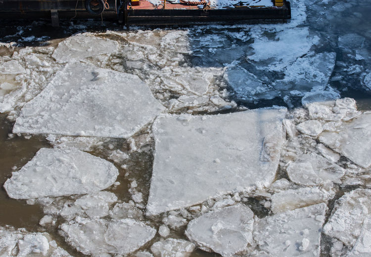 Ice floes in the port of Hamburg Bow Free Hamburg Hull Ice Ice Floe Icebreaker PermaFrost Boat Traffic Cold Fairway Freeze Frost Patrol Hamburg Harbor Ice Congestion Ice Field Ice Sheet Icy Pack Ice River The Elbe Water Waterway