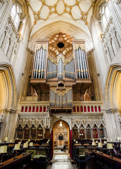 Place Of Worship Religion Spirituality History Architecture Indoors  No People Musical Instrument Day Organ Cathedral The Week On EyeEm Place Of Worship Wells Cathedral Religious Architecture