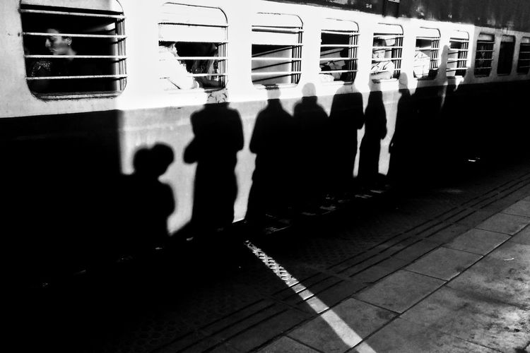 Shadows And Silhouettes Early Morning Natural Light Shadow Public Transportation Sunlight Outdoors Shoot Shootermag Photographers_of_india Togetherness EyeEm Best Shots Indianstories Street Portraits Street Photography City India Indiapictures Crowd Shot Crowded Train City Life People Incredible India Incredible_shot Shadows & Lights