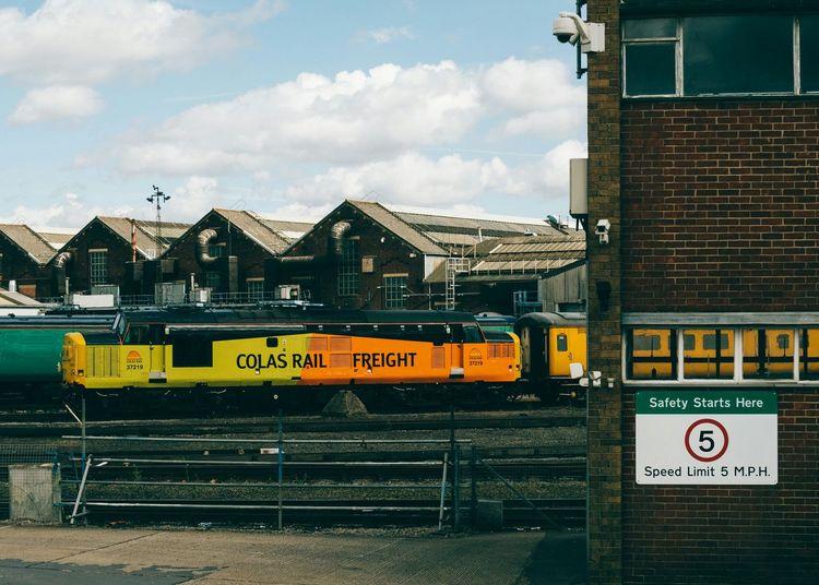 Class 37 at Eastleigh Eastleigh Railway Railway_nerds Diesel Class 37 Locomotive Train