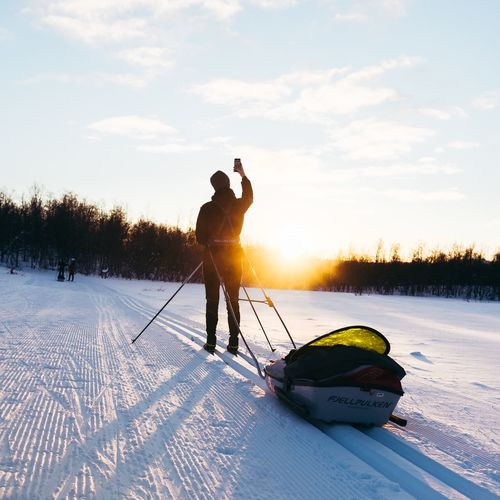 Crosscountry Skiing Winter Snow Cold Temperature Nature Weather Real People Beauty In Nature