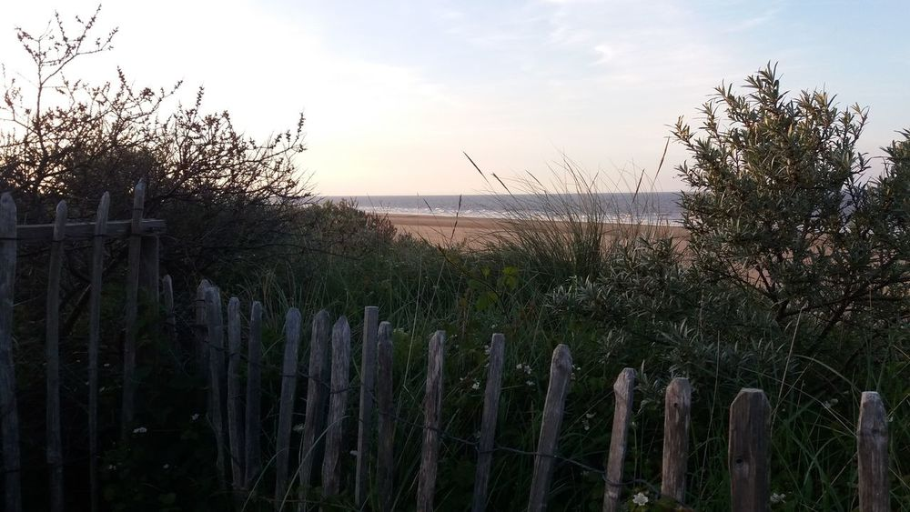 View over Mablethorpe beach Sky Seascape Mablethorpebeach Fence Fences & Beyond Fence Beach Beauty In Nature