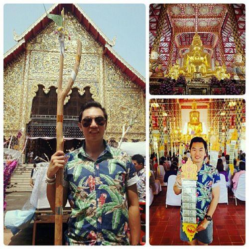 ทำบุญสืบชะตา ปักตุง ไม้ค้ำ วัดสวนดอก เชียงใหม่ Chiangmai Chiangmaitrip2015 songkrang2015