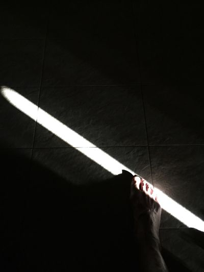 My Feet Light And Shadow Lines Monochrome Good Morning