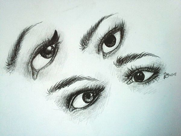 My drawing studies. Eye studies Draw Eyes Studies My Freetime !