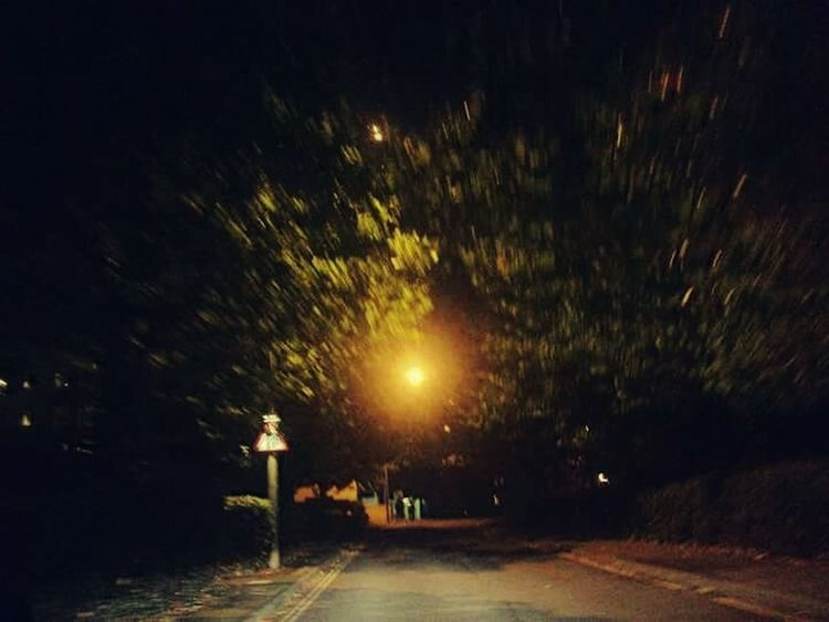 Street The Way Forward Road Street Light Street Illuminated Tree Empty Narrow Surface Level Dark Empty Road Long Night Southampton Docks Dock