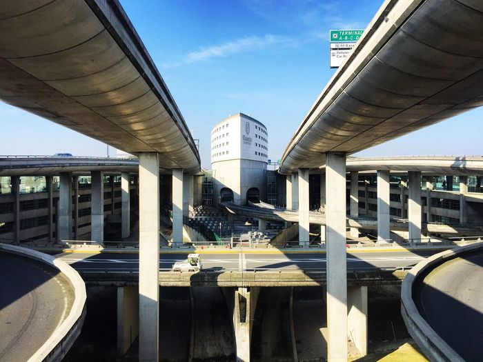 [ Balance ] 2 same different lanes. Symmetry Symmetrical Lanes Architecture Parking Urban Cityscapes Urban Geometry Urban Landscape Cityscape Airport Airport Balance Balancing Act Urbanphotography Urbanexploration On The Road Light And Shadow Shadows Blue Sky Eye4photography  Sheraton Hotel