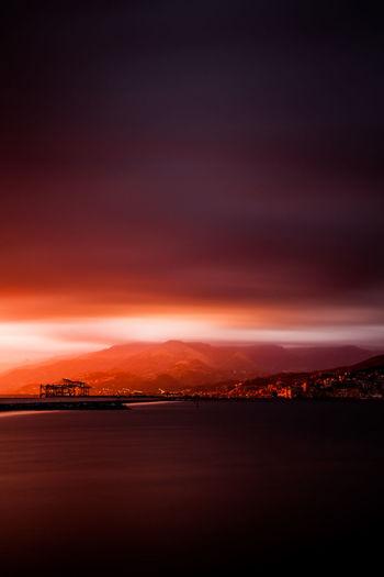 Sky is on fire.
