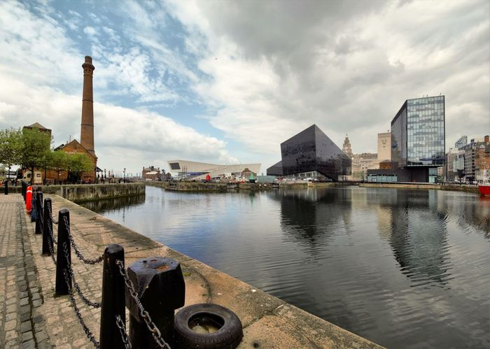 Albert Docks Liverpool, England Liverpool Docks Albert Dock Merseyside Docks Waterfront Pier Head Liverpool The Beatles Buildings & Sky