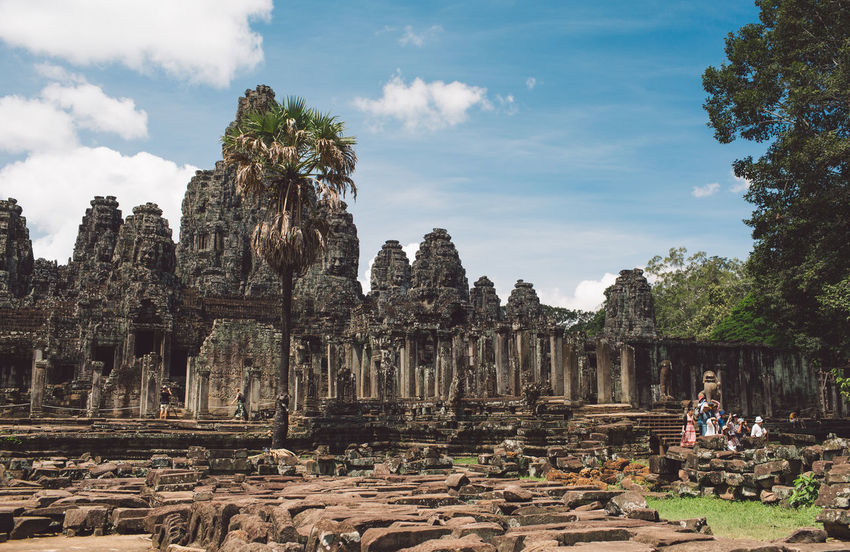 Siem Reap Cambodia Angkor Sky Cloud - Sky History Ancient The Past Place Of Worship Nature Architecture Real People Travel Destinations Tourism Travel Tree Religion Day Spirituality Old Ruin Built Structure Belief Ancient Civilization Ruined Outdoors Archaeology