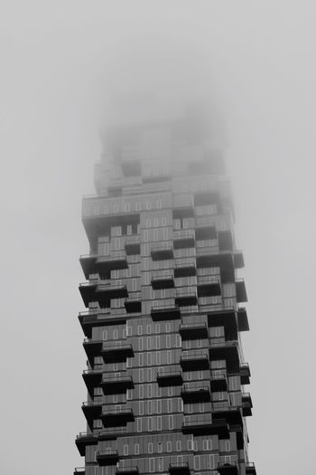 NYC on a foggy day Foggy Fog Architecture Building Exterior Built Structure Low Angle View No People Skyscraper Modern Day Sky City