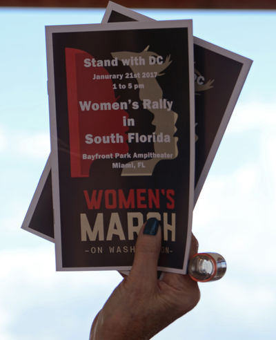 Womensmarch Women's March Women Togetherness Public Places Protesting Protest Signs Politics And Government People International Women's Day Community Miami Florida January 21, 2017 women's rally at Bayfront Amphitheatre in downtown Miami Resist The Photojournalist - 2017 EyeEm Awards