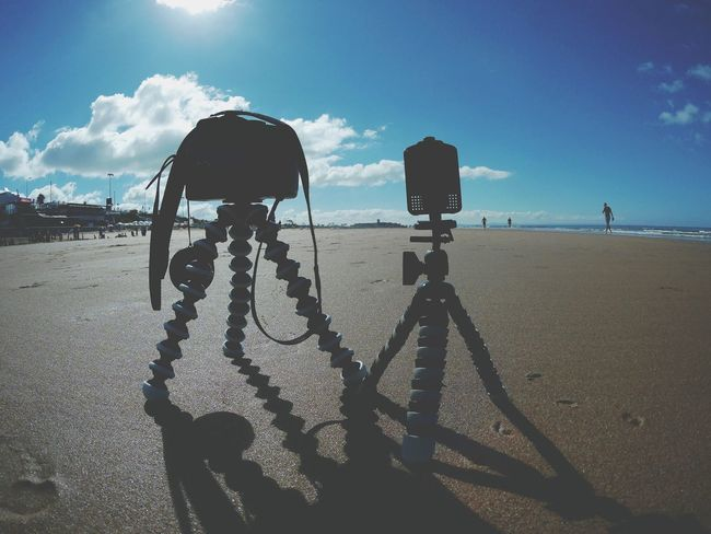 Sand Shadow Sky Day No People Nature Tripods Action Camera Photography Camera Outdoors My Set Up