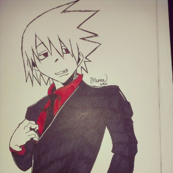 Repost :D Souleater Soulevans Animedrawing  Drawing sketch