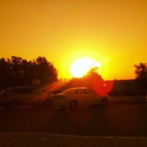 Hello emirates sunrise!! 🌞☺☀🐪🐫 Alrahabeach Abudhabi