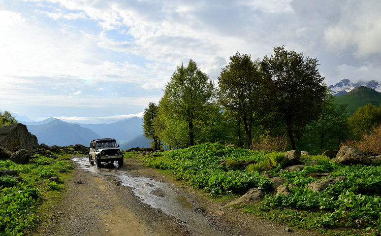 4x4 Adventure Beauty In Nature Car Cloud - Sky Day Landscape Mountain Nature No People Offroad Outdoors Sky Sports Utility Vehicle Tourism Transportation Tree