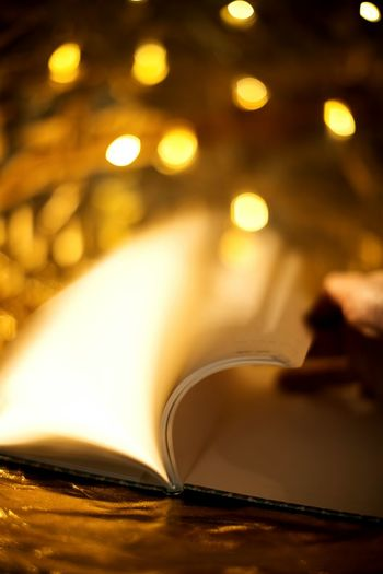 Book Page Reading Table Storytelling Christmastime Christmaslights Golden Shiny Gold Christmas Feeling ChristmasMagic Magical Magic ChristmasStories Tradition