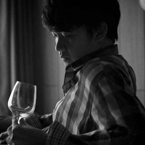 B &w Man Boy Glass Light Miki Miss Portrait