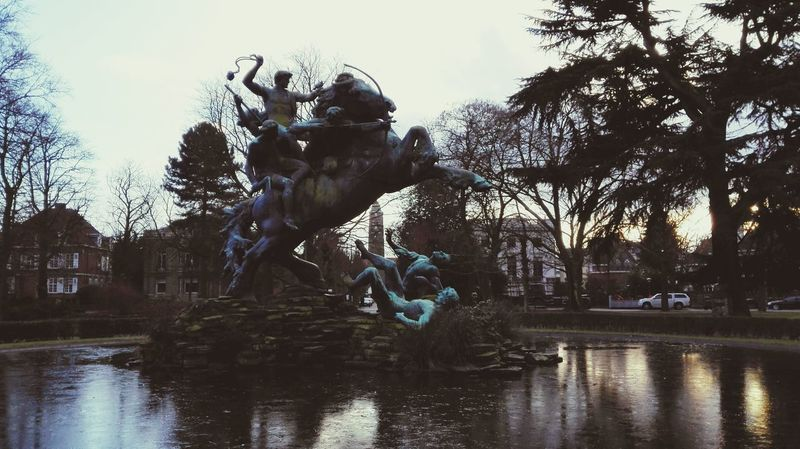 Ghent Gent Statue Park Check This Out Pond Water My Favorite Photo
