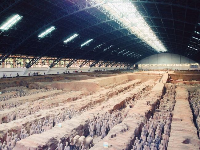 Terracotta Warriors Xi'an China History ASIA Archaeological Tourist Attraction  Tourist