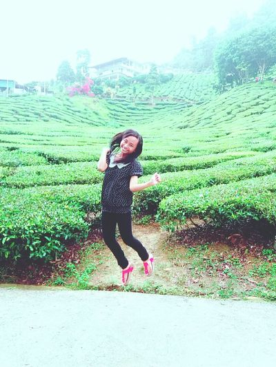 Jump as u can !!😊 Lifestyles Leisure Activity Person Childhood Green Color Young Women Grass Beauty In Nature Nature First Eyeem Photo