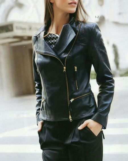 Street fashion leather jackets for women Streetfashion Streetstyle Leather Jacket Leatherjacket Leatherfashion Jackets Womenfashion Womanstyle