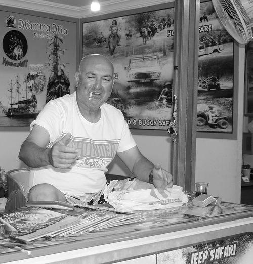My 3 favorite holiday pictures from Marmaris in Turkey Adult Business Casual Clothing Emotion Food And Drink Front View Happiness Indoors  Looking At Camera Males  Mature Adult Mature Men Men Occupation One Person Portrait Real People Retail  Smiling Standing Store Waist Up