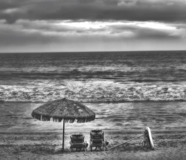 Sea Sky Water Horizon Over Water Beach Nature Cloud - Sky Beauty In Nature Scenics Outdoors Tranquility Shore No People Day Tranquil Scene Wave Sand Rickeherbertphotography Travel Photography Blackandwhite