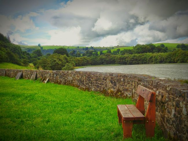 Wales Photography Taking Photos Check This Out Random Bench Countryside Landscape Lake View Green