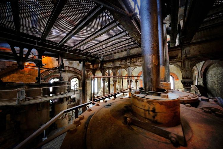 Crossness Pumping Station Indoors  Old Metal Architecture Abandoned No People Rusty