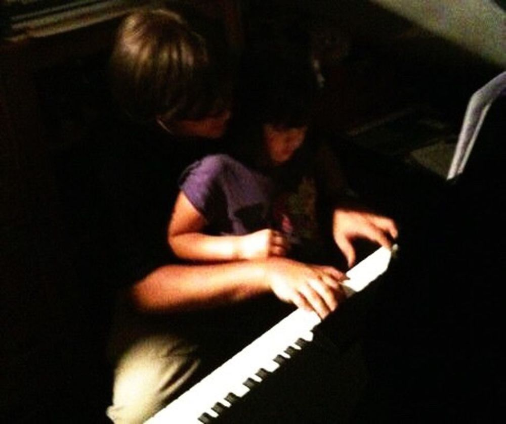 Piano Moments Music Playing Musical Instrument Musician Father And Daughter