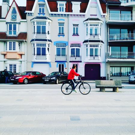 Bicycle City Building Exterior One Person Architecture Day Dunkerque Beach Transportation Mode Of Transport Land Vehicle Outdoors People Adults Only Adult