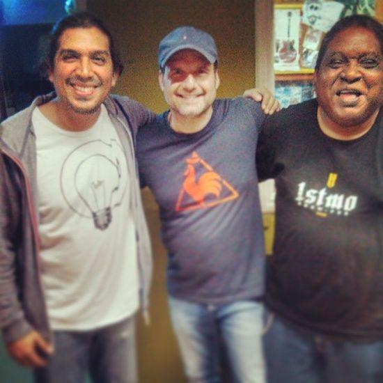 Aquí con Leo Goldfarb (Océano) y Carlos Iván Zuñiga (Xantos Jorge) dos pilares del Rock Nacional Secuenciainicialpanana Radio10pty