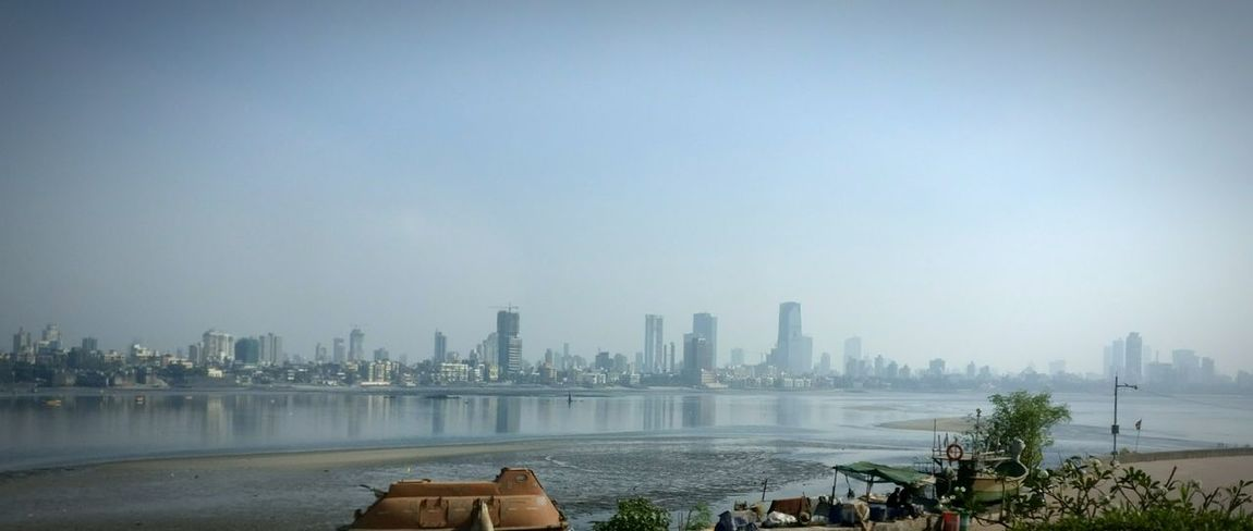 Great view of the city of Mumbai Water Travel Sky No People Urban Skyline City Architecture Beauty In Nature Day Growth Outdoors Building Reflection EyeEm Best Shots MumbaiDiaries Mumbai Cityofdreams  Highrises Skyline Highrisebuilding Beautiful ♥ Ocean Ocean View Hello World