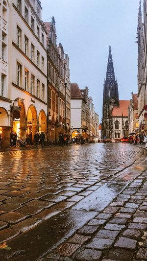 Münster Architecture Building Exterior Built Structure City Building Sky Nature Tree Outdoors Residential District Transportation No People Water Wet Travel Destinations Street Day