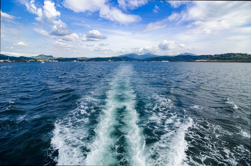 Boat trail EyeEm Best Shots EyeEmNewHere EyeEmBestPics EyeEm Nature Lover Breeze Subic Waves Bay