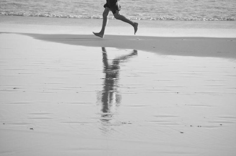 Beach Life Beachphotography Black & White Black And White Legs On Beach Mirrorless Running On Beach