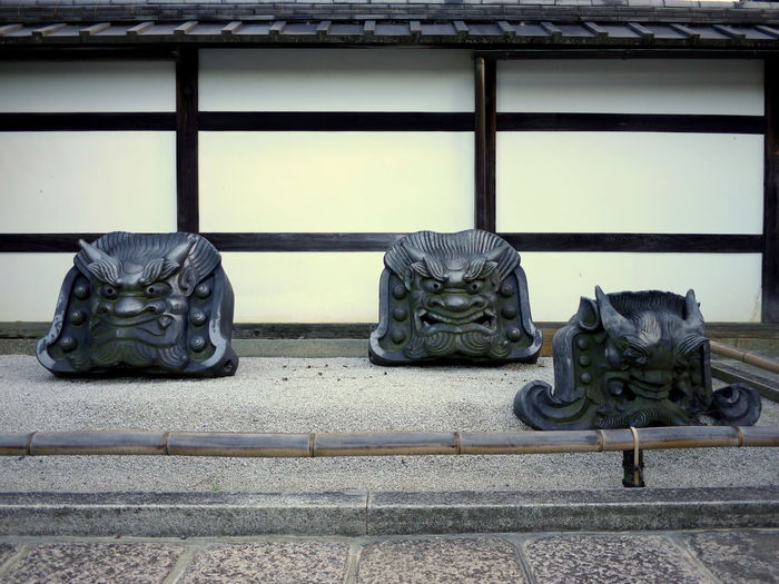 Devil Guardian Japan Japanese Garden Kawara Traditional Roofing Tile ONI Recycle Art Sand Garden Travel Destinations