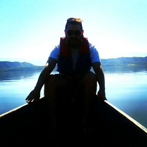 Blue Wave Sailing Boat Blue Lake Shadow Color Manipulation Colombia Es Bella Viaje En Bote Azul Profundo