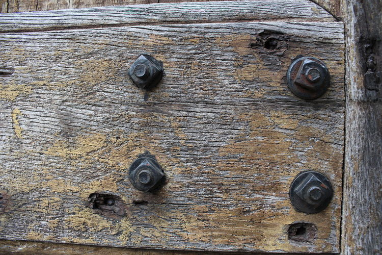 old doors with rusty screws Wood - Material Door Entrance Old Backgrounds Full Frame No People Close-up Weathered Textured  Safety Day Pattern Metal Lock Nail Old Door Rosty Steel Rusty Decline Knob Run-down Doorknob Deterioration