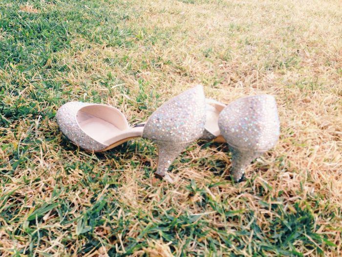 Diamonds on the sides of her shoes Dressing Up Shoes High Heels Wedding Grass Capture The Moment