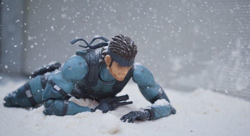 Creepin' Toys Photography Toyphotography Snow Practical Effects Metal Gear Solid Showcase July