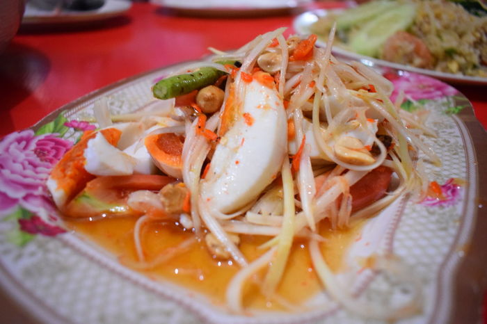 Eating Food And Drink Somtum Pu-plarha Thai Thai Foods Thai Foods Foodphotography Thai Food Good Taste Thailand Thailand Photos Close-up Eat Food Food And Drink Freshness Healthy Eating Ready-to-eat Somtum Somtum Thai Somtumthai Thai Food Thaifood Thaifoods Thailand Food Thailandtravel