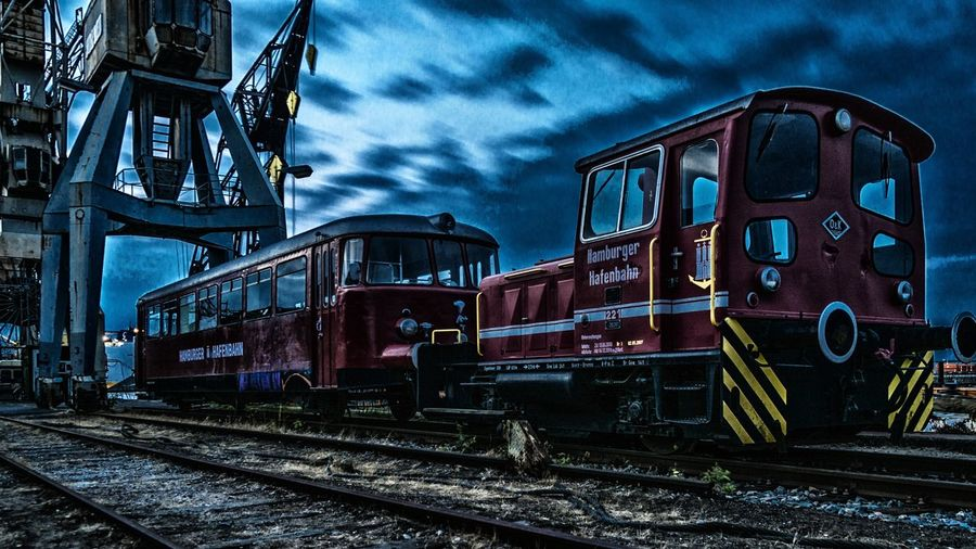 HafenBahn Crane Harbor Train History Museum Night Photography Night Sky Old Perspective Railroad Tracks Traditional Train Train - Vehicle Urban