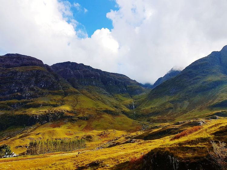 Cloud - Sky Landscape Mountain Nature Sky Mountain Range Outdoors Beauty In Nature No People Day Scenics Scotland Nature Colors Tourism Beauty In Nature The Week On EyeEm Highlands Of Scotland Autumn🍁🍁🍁 EyeEmNewHere Glencoe Scotland Nature Travel Destinations