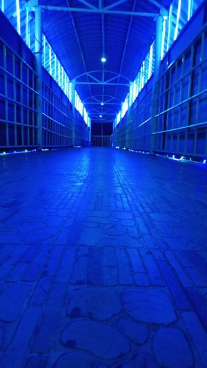 Illuminated Empty Architecture Lighting Equipment Ceiling Blue Built Structure No People Indoors  Day