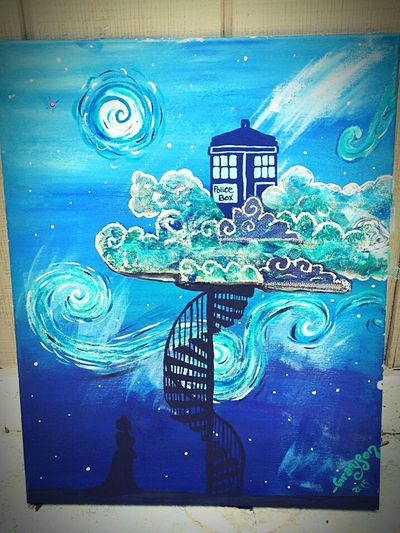 Doghairstudio Gypsy Girl Art Is Life Dr Who Gifted Art Cover My World In Paint Mixed-medium