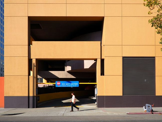 Minimalist Architecture Bright_and_bold Taking Pictures Compositon Minimal Building Exterior Urbanscape Light And Shadows Serenity Watching People Landscape_Collection Keep Walking City Life Parking Garage Oakland, Ca. Colorful Day Colorful