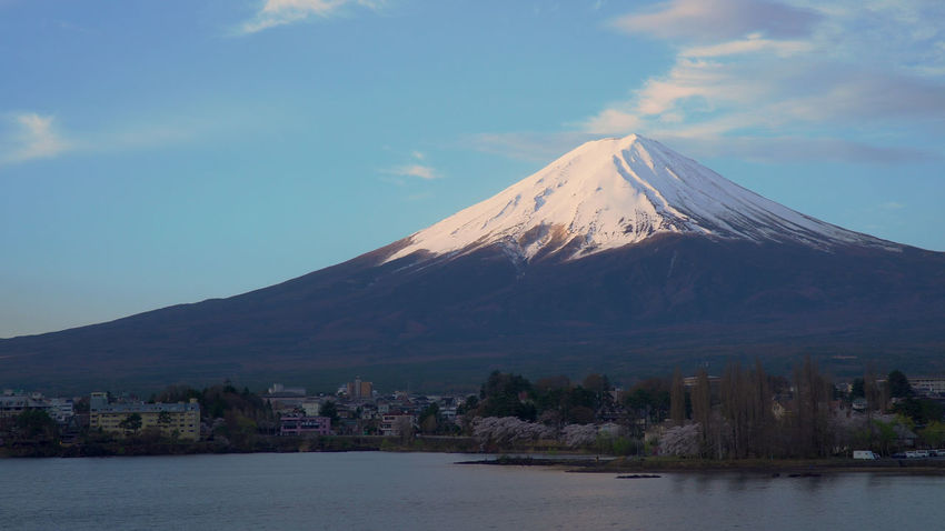 mt.fuji Beauty In Nature Cloud - Sky Cold Temperature Day Lake Mountain Mountain Peak Nature No People Outdoors Scenics - Nature Sky Snow Snowcapped Mountain Tranquil Scene Tranquility Volcano Water Waterfront