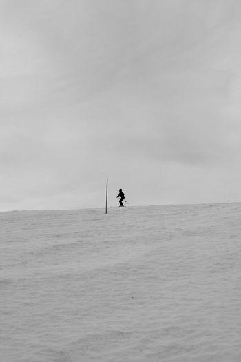 Blackandwhite Man Monochrome Ski Snow Sport Winter Zörk